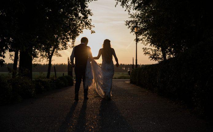 Zonsondergang Trouwen trouwfotograaf in Heemskerk Beverwijk Castricum